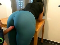 Step Mom teases, rubs because she just wants to be fucked by her Step Son-in-law again, enjoys cock too much