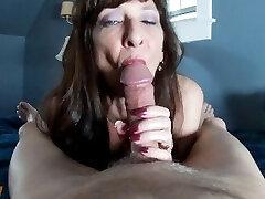 Sexy Cougar Blowjob Cumshot Swallow Compilation