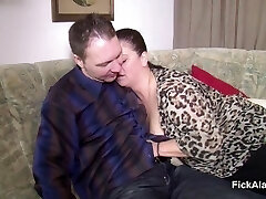 Mother Seduce Step-Son to Drill her