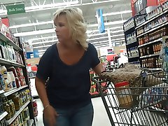 Sexy Blonde Milf at Walmart