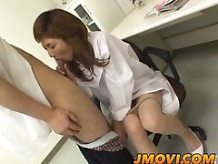 Asian nurse sucks off patient for sperm sampl