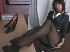 black silky hose teaser