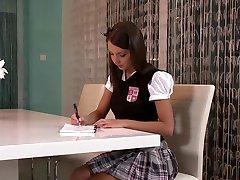 Brunette Student Makes Up For Bad Grade.mp4