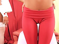 Cameltoe Teen In Yoga Pants and Big-Ass Nurse