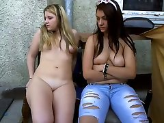 two young teens mastrubate in the balcony