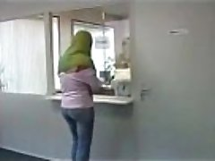 Broke Arab Fucks In An Office For Money