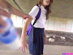 Wetting schoolgirl