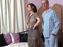 Mom spanks Daughter and Father