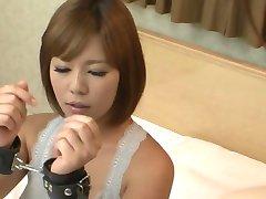 Nerdy asian schoolgirl dominatrix seduces lesbian teacher