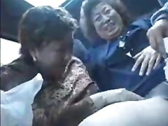 Granny asians in bus