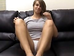 Pretty girl does anal in a casting