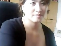 Asian milf plays and gets caught