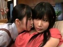 maid mommy daughter in girl-on-girl action