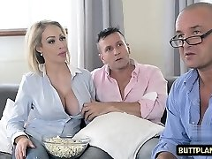 Humungous tits pornstar titty fuck and cum in jaws
