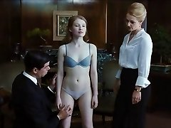 Magnificent Emily Browning in hooter-sling & panties Cameltoe
