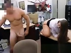 Dark Haired Fucked Doggy Style In Back Office Of Pawnshop