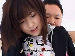 Astounding Japanese chick Minami Yoshizawa in Hottest Threesome, Close-up JAV movie