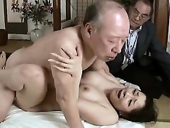 Hardcore grandfather fucks young babe