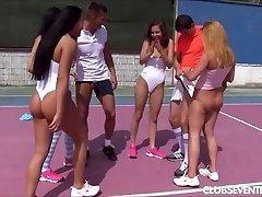 Teen tennis pornography orgy