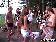 Teens Dulsineya and Clit outdoors