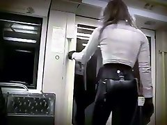 Riding the subway in latex