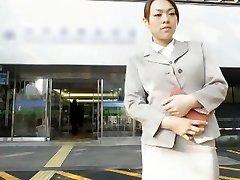 Horny Japanese damsel Momoka Hayami, Rinka, You Kitajima in Exotic Duo, Public JAV video