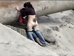 Latino duo caught on the beach