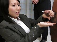 Astonishing Japanese whore Yuuna Hoshisaki in Hottest JAV uncensored Handjobs movie scene