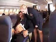 american stewardess tugjob part 1