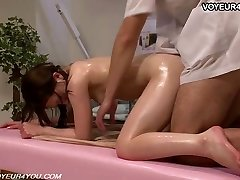 Japanese Beauty Receives Body Massage Sex