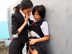 Hottest Japanese bitch Kurumi Katase in Exotic College, Fingering JAV movie scene