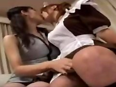 Japanese Lesbian Woman And Her Younger Maid