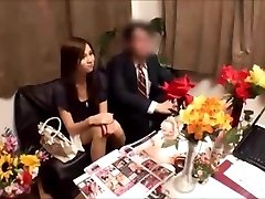 Japanese wife receives massged while spouse waits
