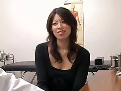 Appealing Jap doxy crammed from behind during a medical exam