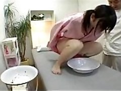 Japanese cutie in a gal salon to undergo urine test
