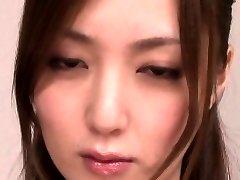 Japanese milf engulfing penis before facial