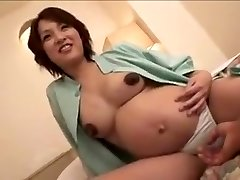 pregnant Japan woman still gets fuck part 2