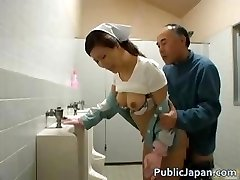 Oriental doll is cleaning the wrong public part3