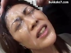 Asian Segretario Bondage, Bukkake