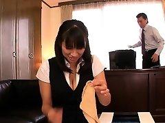 Japanese aged Hana Haruna spanked on desk