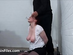 Face punished aged ### Chinas dental gagged sadomasochist torments and humiliating gaping pussy pang of old submissi