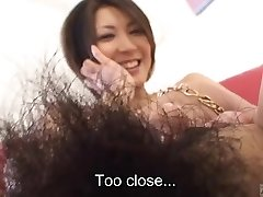 Subtitled Japanese inexperienced flawless bush naked body check
