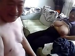 Old Chinese Couple Get Naked and Bang on Cam