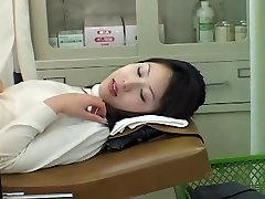 Very cute Asian honey gets a dirty Gyno exam with a toy