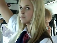 Bus Full of Blonde School Chicks 3