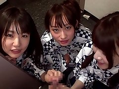 Shaven Girl Threesome - TeensOfTokyo