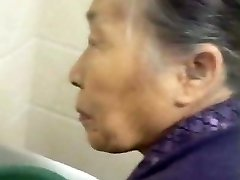 Fondling My Chinese Grandma Old Pussy