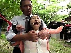 Asian cougar BDSM assfucking fisting and bukkake