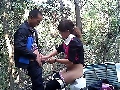 Asian street call girl fuckt in the woods
