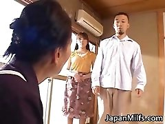 Lustful japanese MILFS sucking and fucking part4